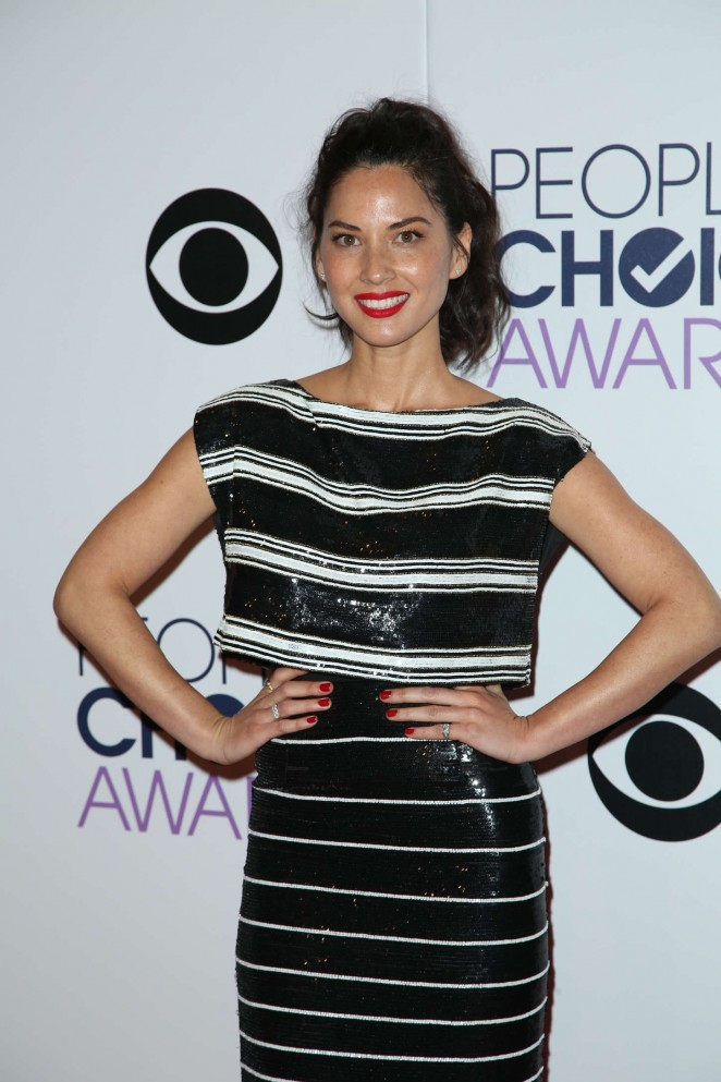 Olivia Munn: 2015 Peoples Choice Awards -36