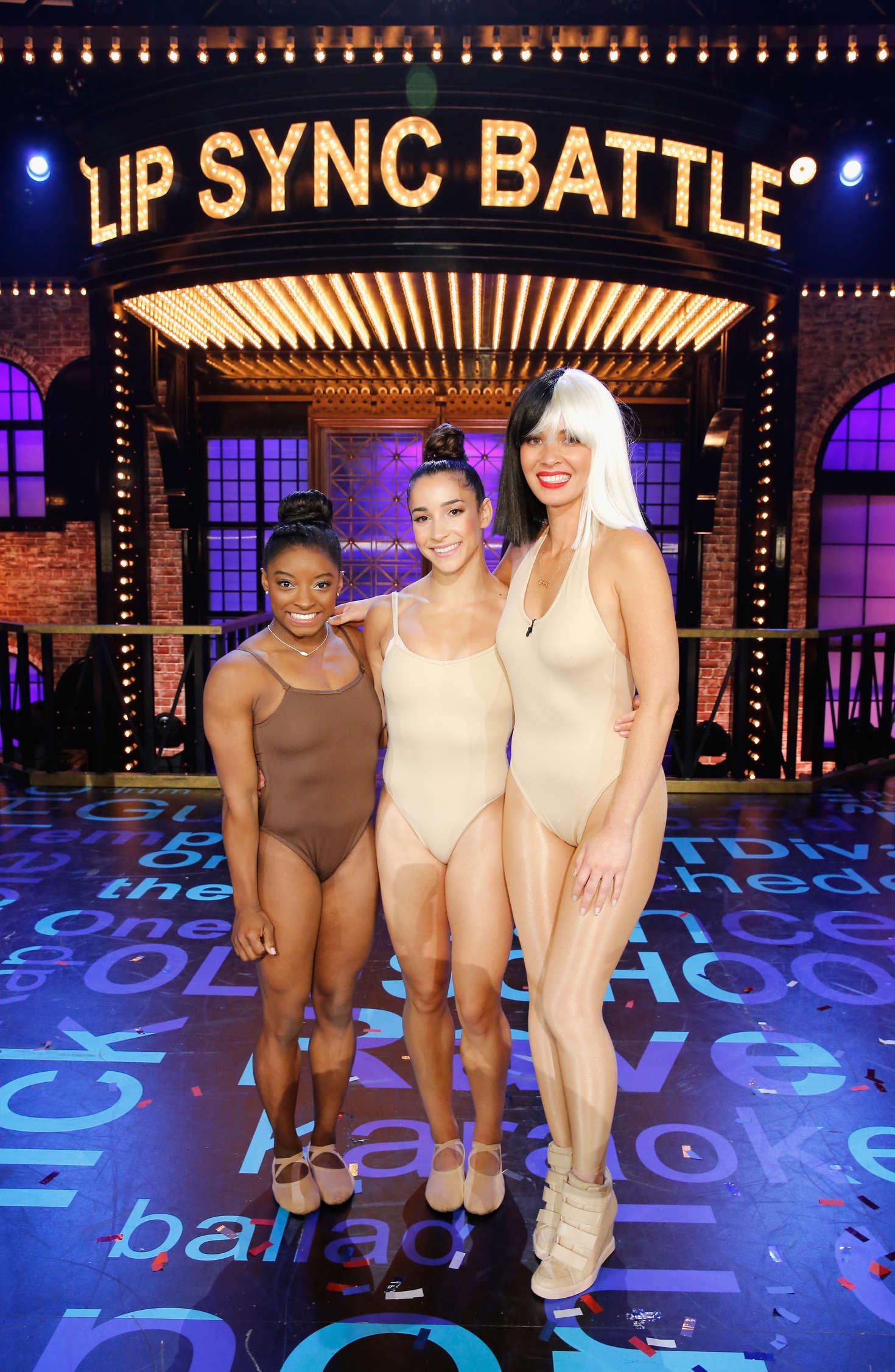 Olivia Munn, Aly Raisman and Simone Biles - Lip Sync Battle All-Stars Live