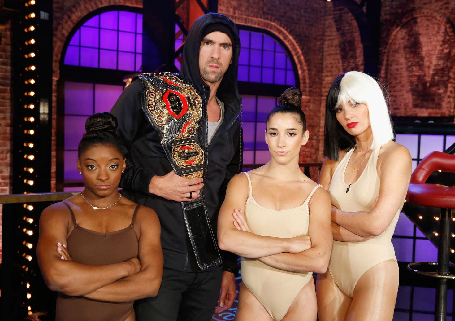 Olivia Munn 2016 : Olivia Munn Aly Raisman and Simone Biles: Lip Sync Battle All-Stars Live -05