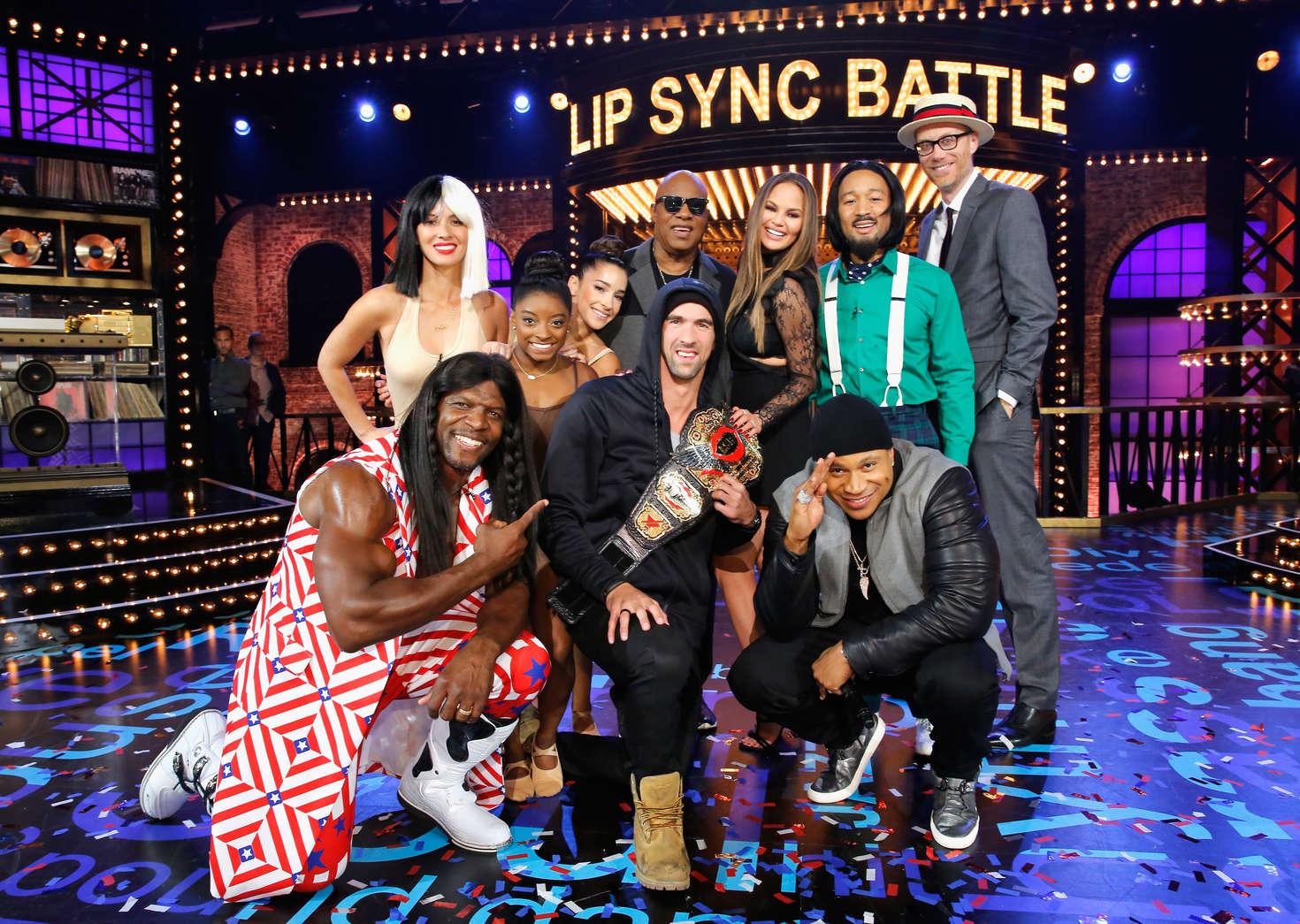 Olivia Munn 2016 : Olivia Munn Aly Raisman and Simone Biles: Lip Sync Battle All-Stars Live -11