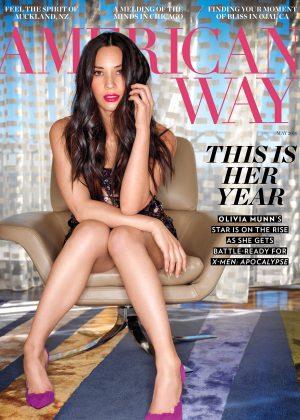 Olivia Munn - American Way Magazine (May 2016)