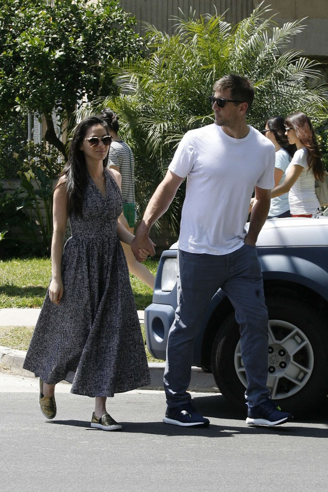 Olivia Munn and boyfriend Aaron Rodgers out in Studio City