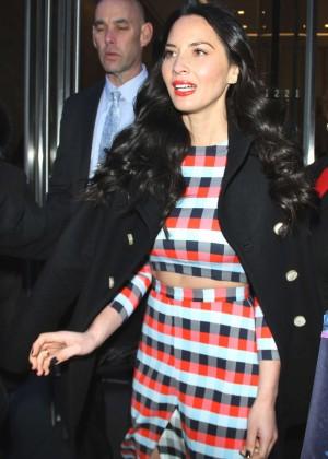 Olivia Munn Arrives at SiriusXM studios in New York