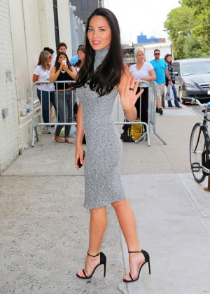 Olivia Munn - Arrives at 'The Daily Show with Jon Stewart' in NYC