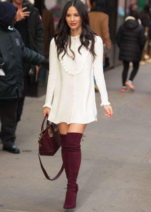 Olivia Munn - Arriving at Good Morning America in New York