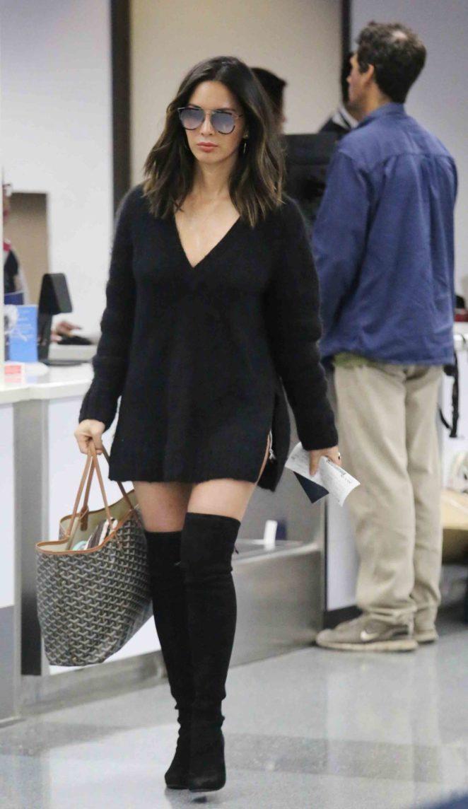 Olivia Munn at LAX Airport in LA