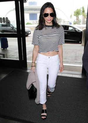 Olivia Munn at LAX Airport in Los Angeles