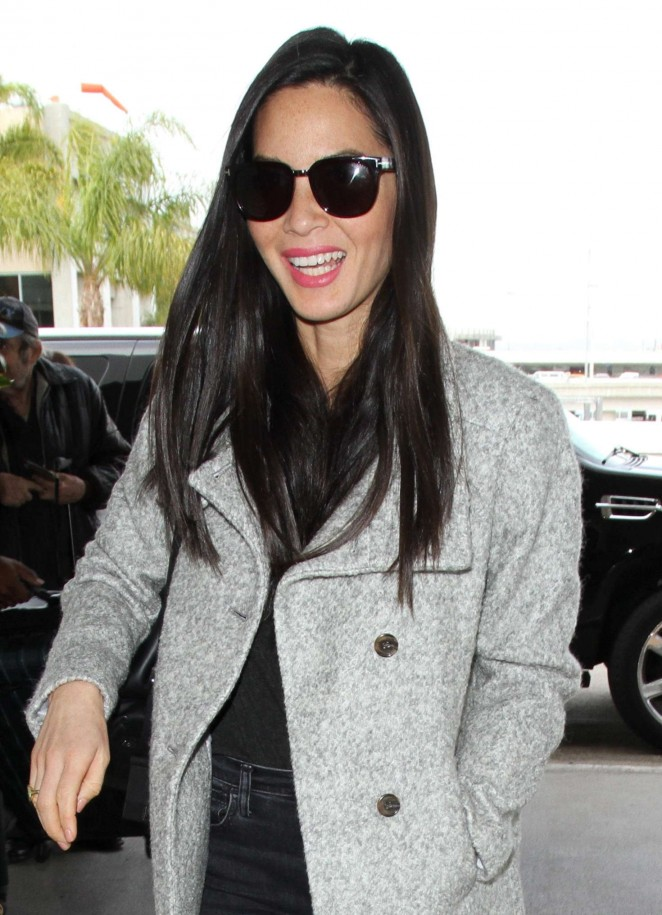 Olivia Munn at Los Angeles International Airport