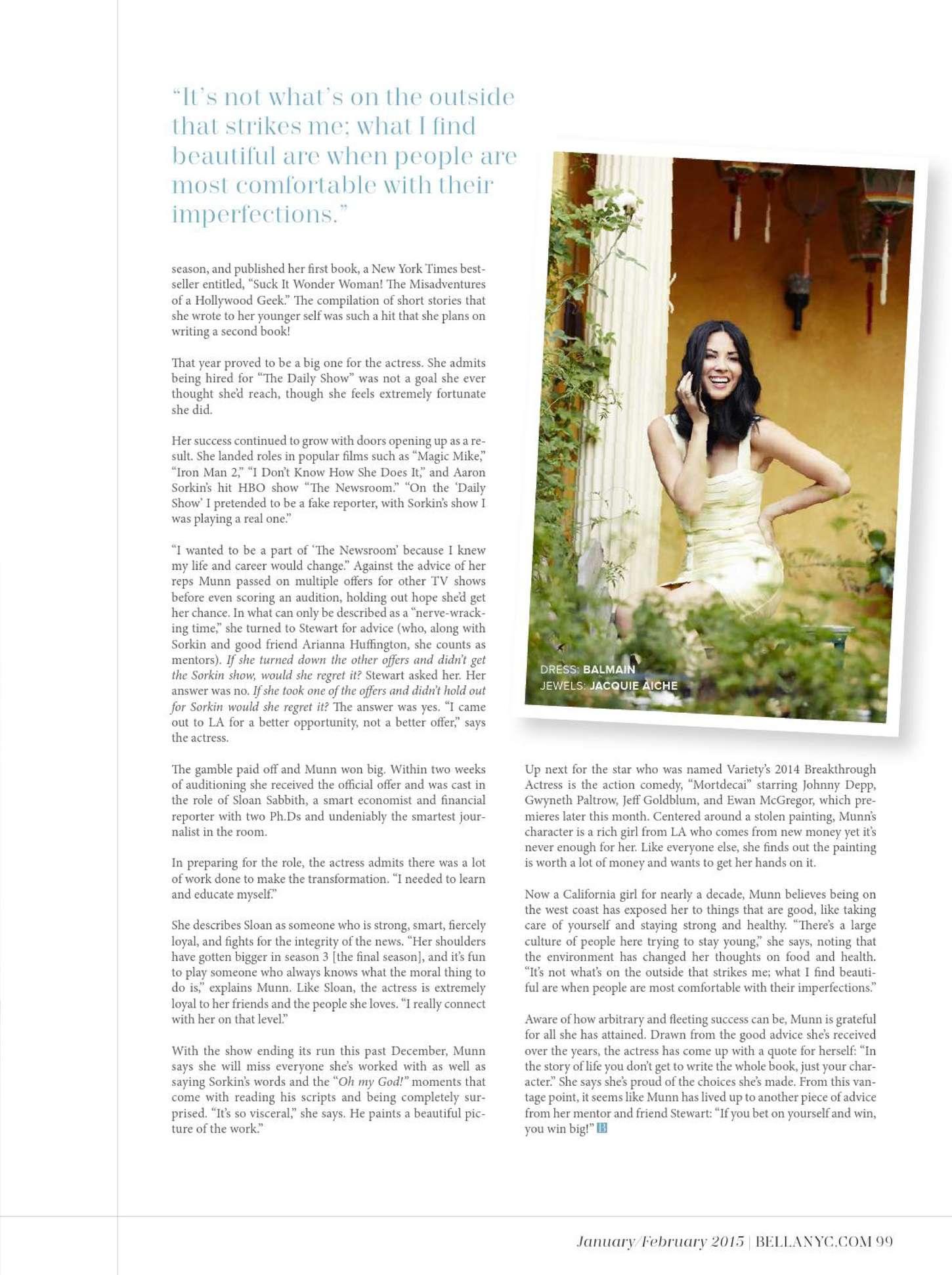 Olivia Munn 2015 : Olivia Munn: BELLA Magazine 2015 -02