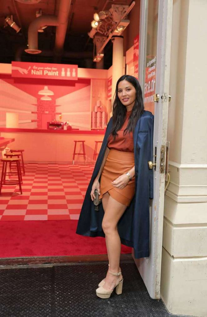 Olivia Munn - Celebrates Target's New Tribeca Store with Glam Sesh at 'Nail It Up' in NYC