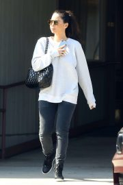 Olivia Munn in Black Jeans - Out in Los Angeles