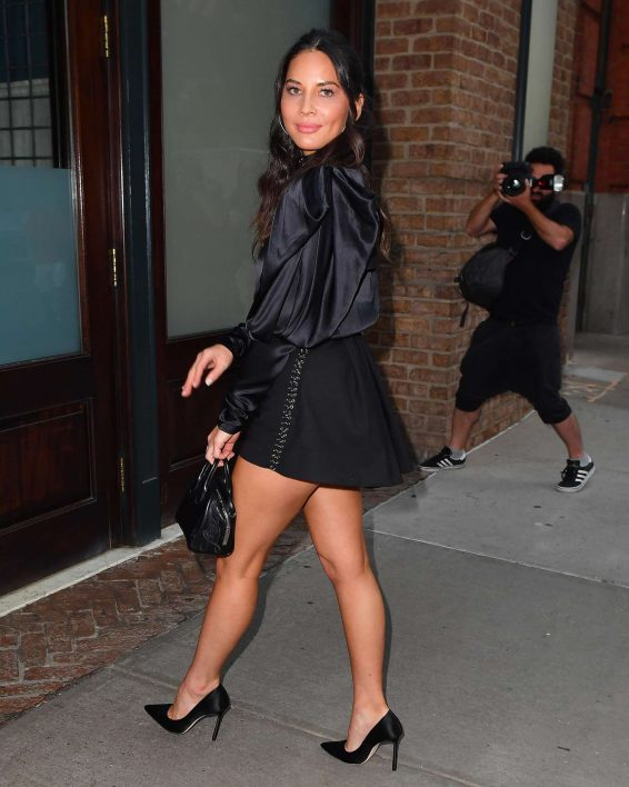 Olivia Munn in Black Shorts - Out in New York City