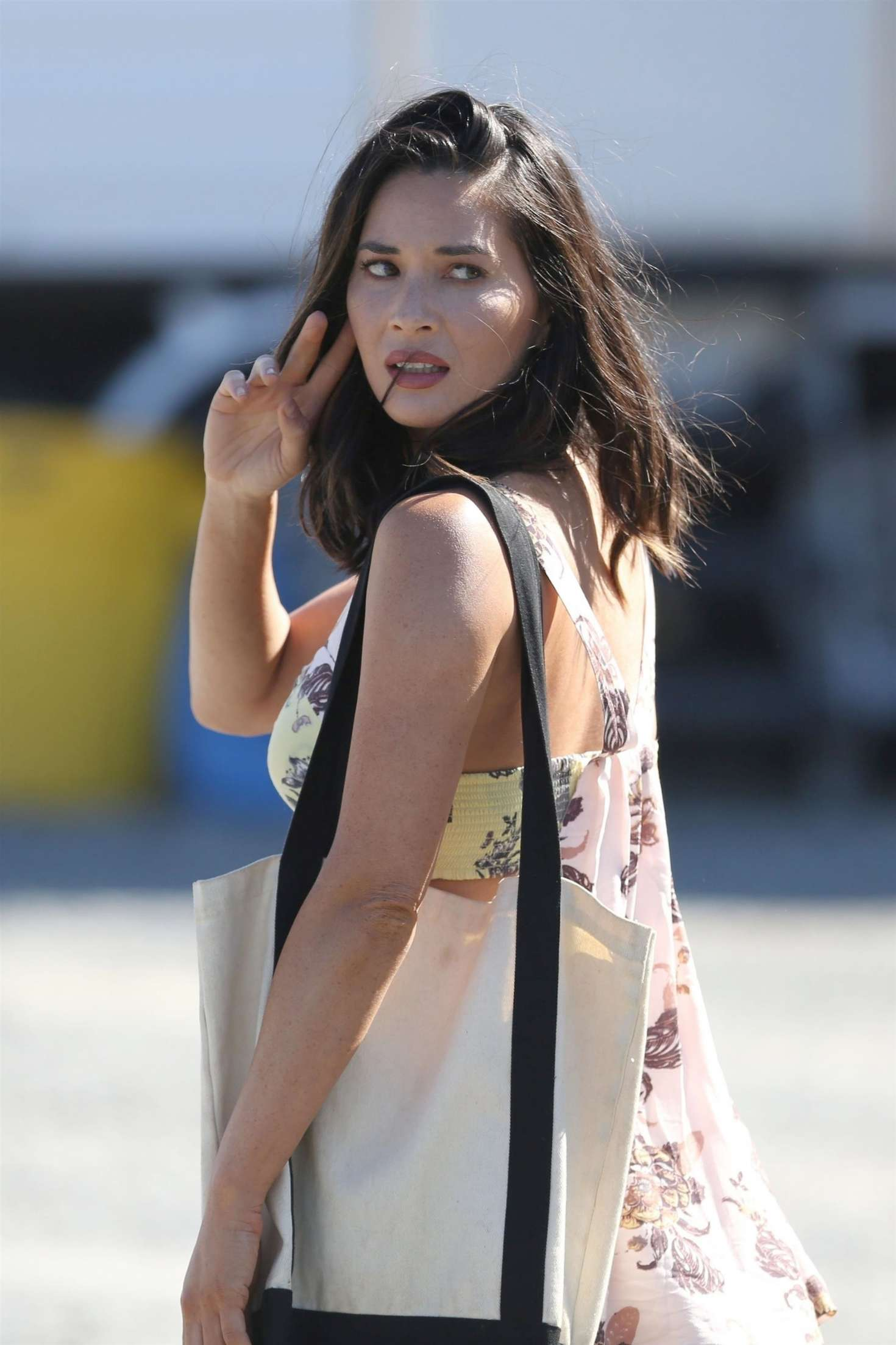 Olivia Munn 2017 : Olivia Munn in Mini Dress On The Buddy Games -07