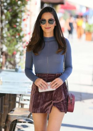 Olivia Munn in Mini Skirt - Out and about in LA