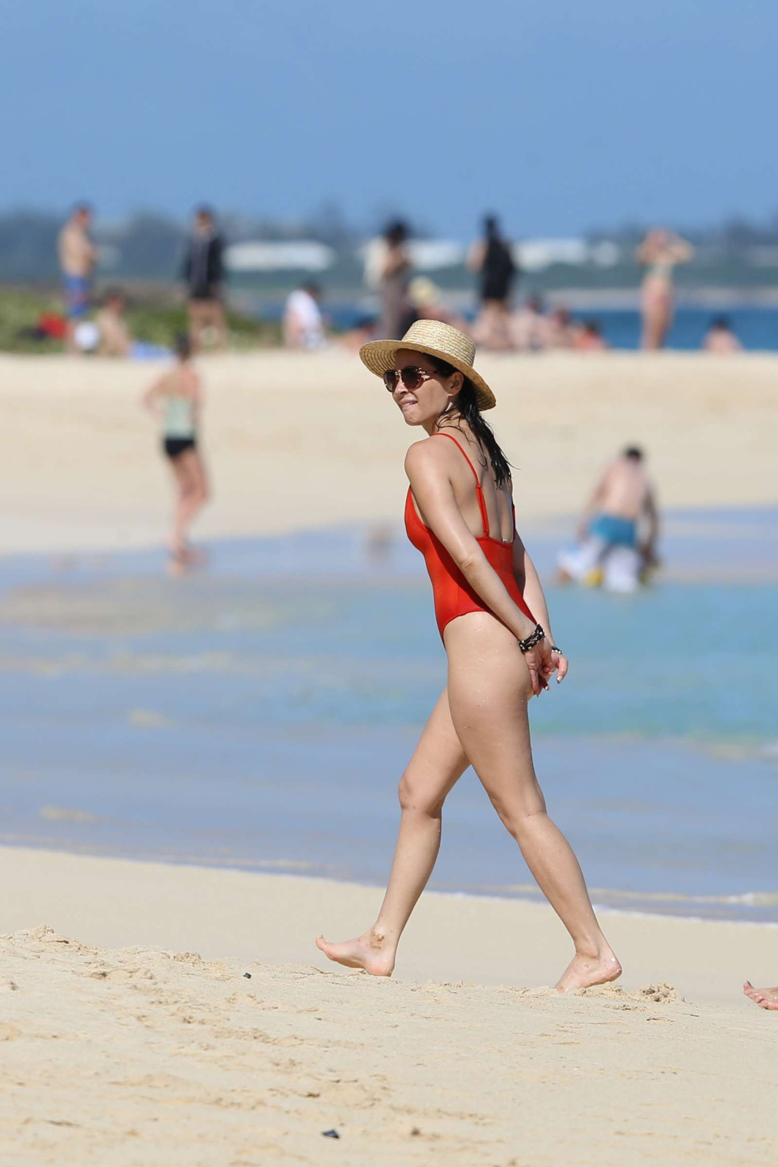 Olivia Munn 2017 : Olivia Munn in Red Swimsuit 2017 -26