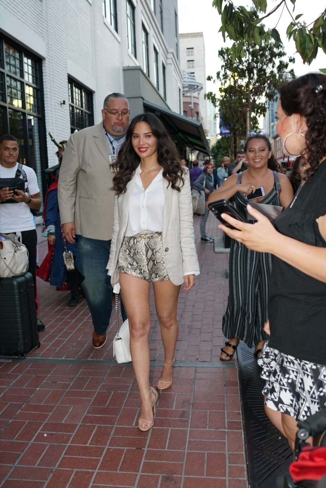 Olivia Munn in Shorts - Out at Comic Con San Diego 2019