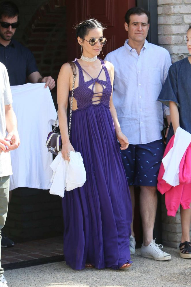 Olivia Munn: Joel Silver Memorial Day Party -28