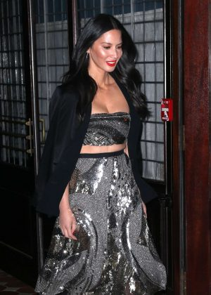 Olivia Munn Leaves her hotel in New York City