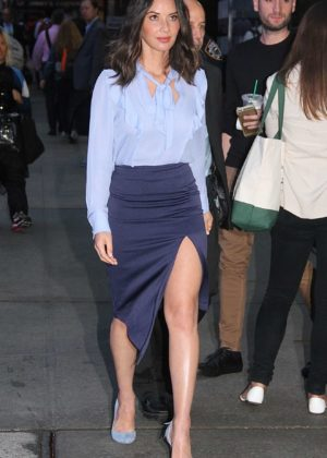 Olivia Munn - Leggy arriving at Good Morning America in NYCs Times Square