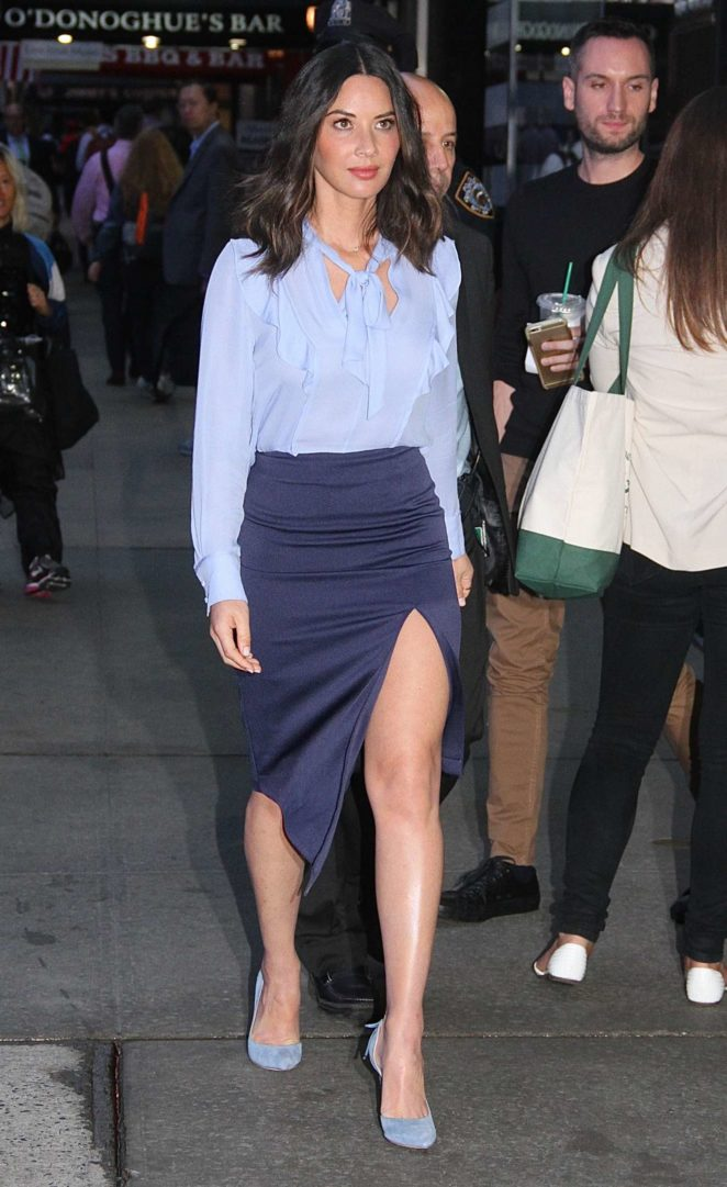 Olivia Munn – Leggy arriving at Good Morning America in NYCs Times Square