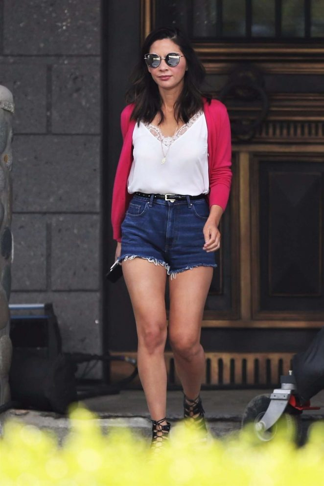 Olivia Munn – On the set of 'The Buddy Games' in Vancouver