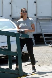 Olivia Munn - on the set of 'Violet' in LA