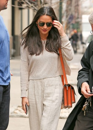 Olivia Munn - Out and about in Soho