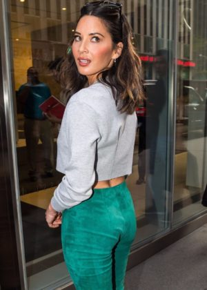 Olivia Munn - Seen at SiriusXM in NYC