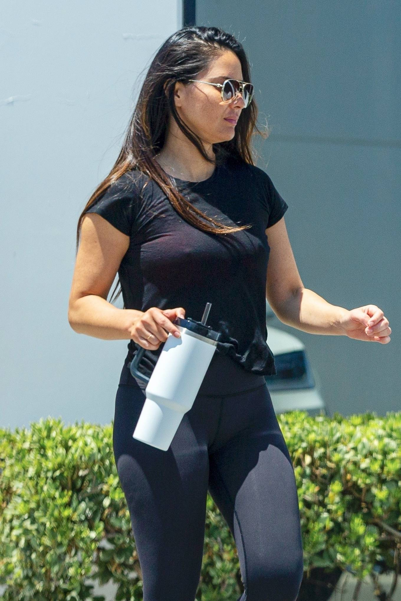 Olivia Munn - Seen while exiting the gym in Los Angeles