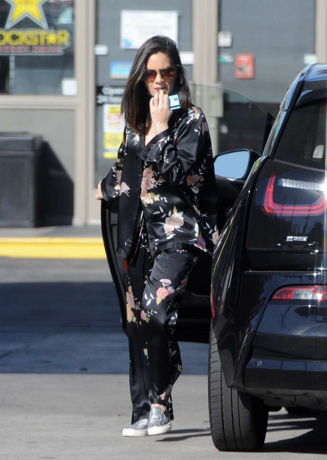Olivia Munn - Spotted pumping gas in Los Angeles