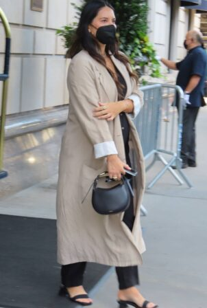 Olivia Munn - Stops by Central Park in New York