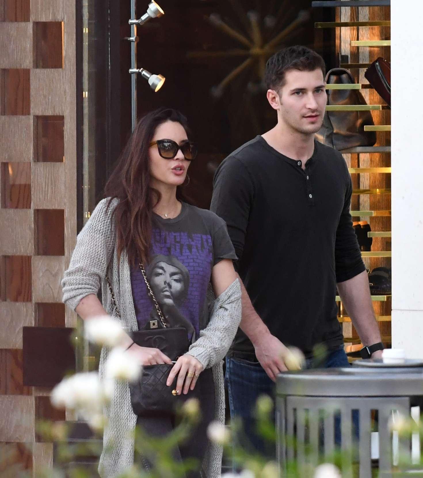 Olivia Munn with boyfriend - Shopping in Los Angeles