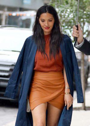 Olivia Munnin Short Skirt Out in New York