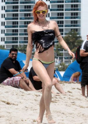 Olivia Nervo in Bikini on the beach in Miami