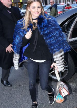 Olivia Palemo Arrives at Royal Monceau Hotel in Paris
