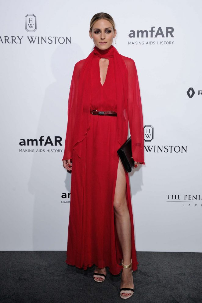 Olivia Palermo - Amfar Paris Dinner 2016 in Paris