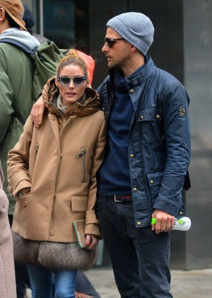 Olivia Palermo and Johannes Huebl out in New York City