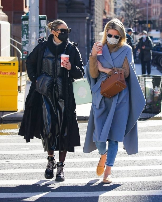 Olivia Palermo and Nicky Hilton - Spotted in New York