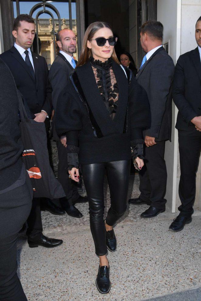 Olivia Palermo - Arrives at Elie Saab Fashion Show in Paris
