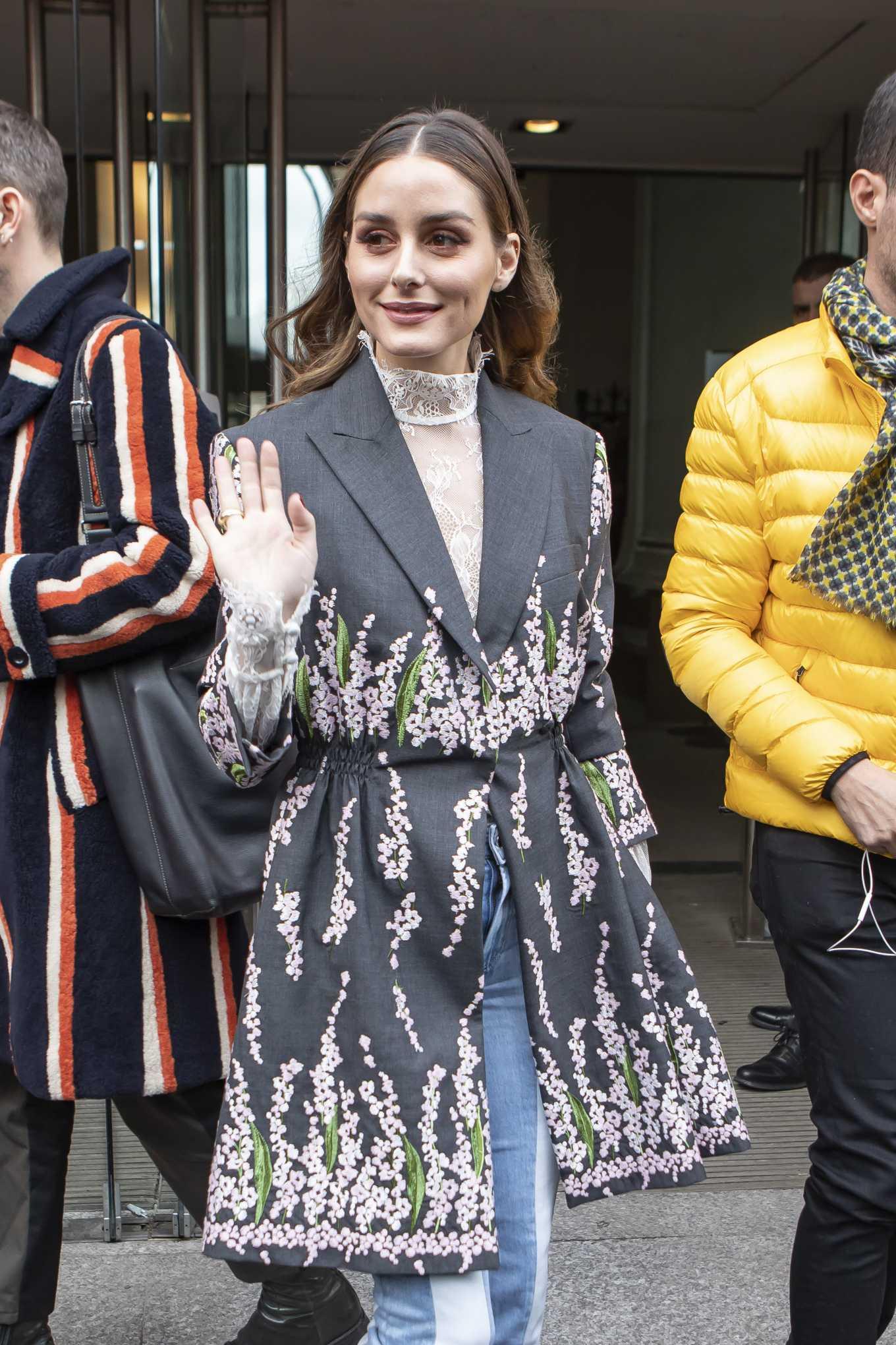 Olivia Palermo - Arrives at Giambattista Valli Show at Paris Fashion Week 2020