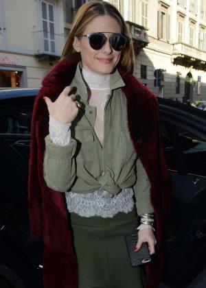 Olivia Palermo - Arrives at Trussardi Fashion Show 2017 in Milan