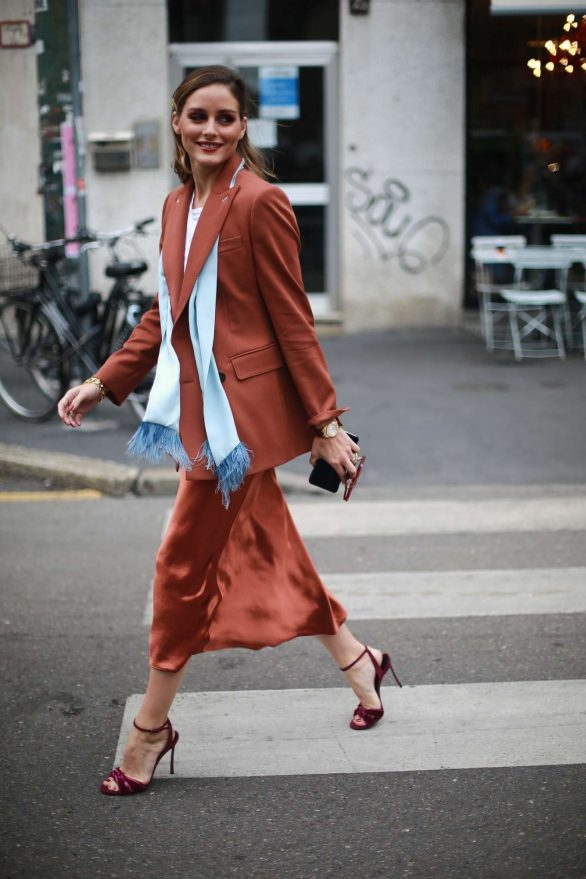 Olivia Palermo - Arriving at the Max Mara Womenswear SS20 Show in Milan
