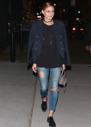 Olivia Palermo at Bondst Restaurant in New York