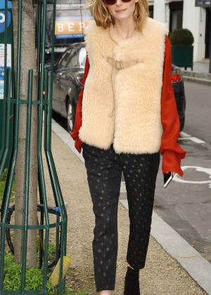 Olivia Palermo at Matignon Avenue in Paris