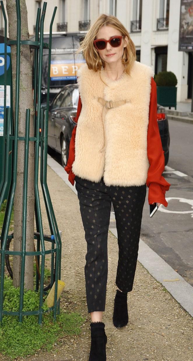 Olivia Palermo at Matignon Avenue in Paris