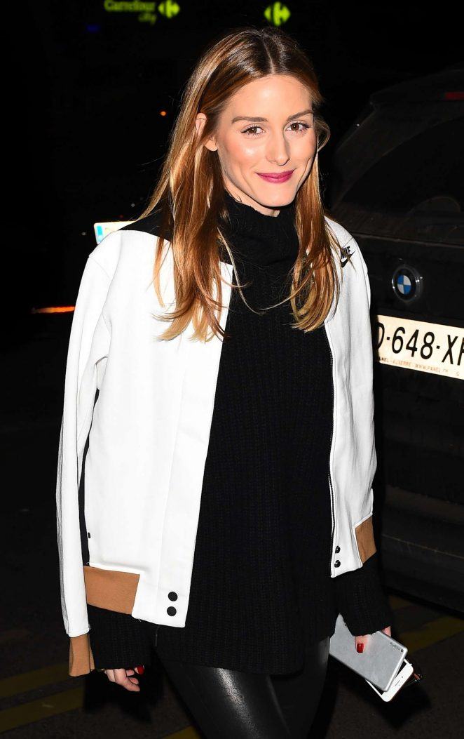 Olivia Palermo at the Royal Monceau hotel in Paris
