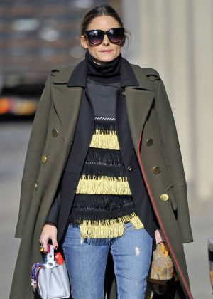 Olivia Palermo in Jeans out in New York City