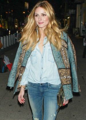 Olivia Palermo in Jeans out in NYC