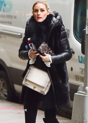 Olivia Palermo in leggings out in Brooklyn