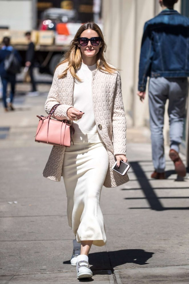 Olivia Palermo in Long Skirt out in Brooklyn